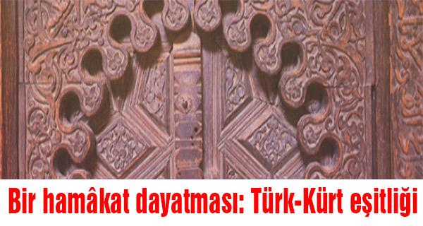 Bir hamâkat dayatması: Türk-Kürt eşitliği
