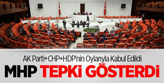 MHP'DEN TBMM OYLAMASINA TEPKİ !