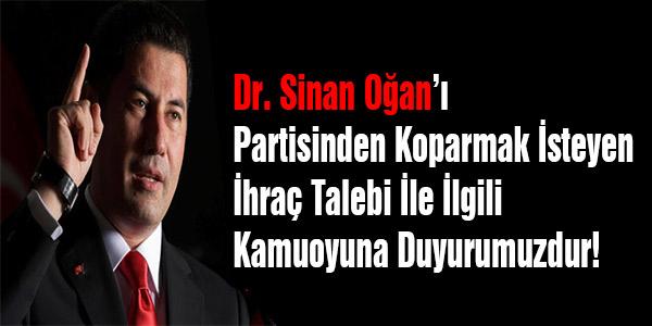 Sinan Oğan'ın 'ihraç talebine' derneklerden ortak basın bildirisi