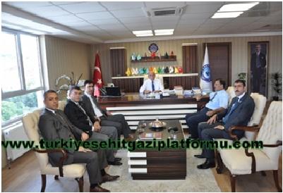 Türkiye Şehit Gazi Platformundan KAMUSEN'e Ziyaret