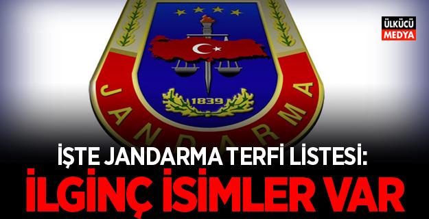 Jandarma'da Terfi Eden General ve Albaylar Belli Oldu!