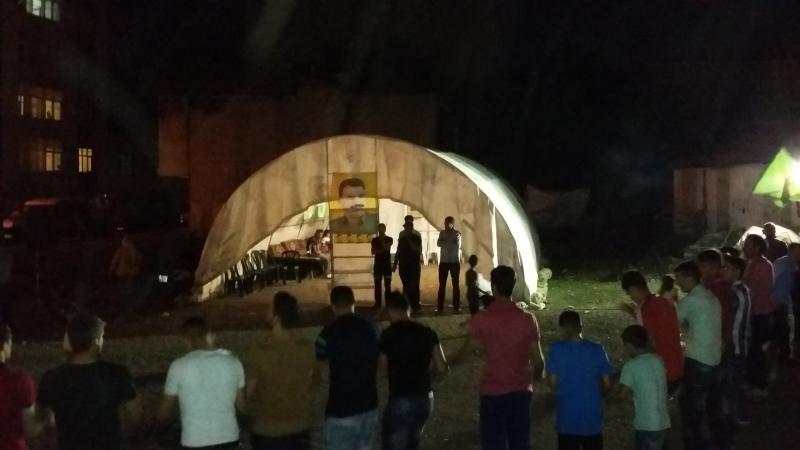 İstanbul'un ortasında 'Öcalan'a özgürlük' çadırı