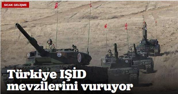 Türkiye IŞİD mevzilerini vuruyor