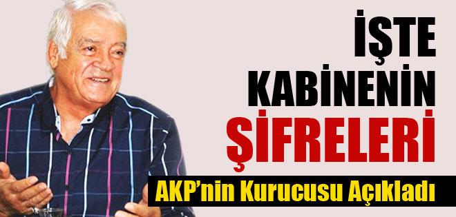 AKP Kurucusu Kabinenin Şifrelerini Açıkladı !
