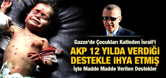 İŞTE AKP'NİN 12 YILDA İSRAİL'E VERDİĞİ DESTEKLER