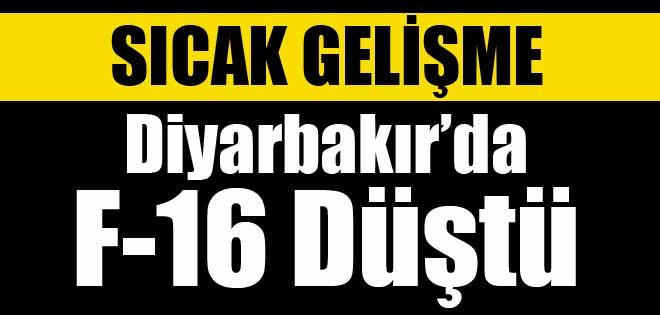 Diyarbakır'da F-16 düştü !