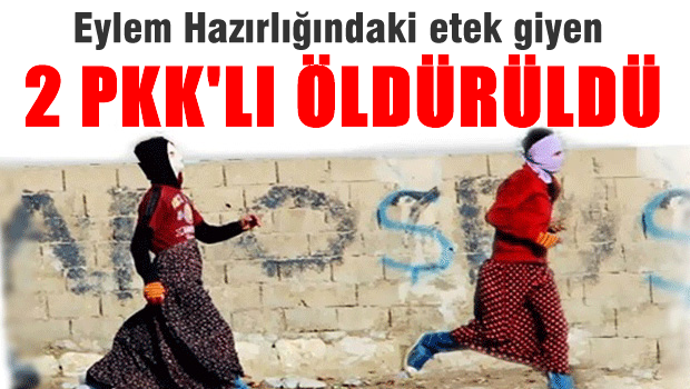 Eylem hazırlığında olan 2 PKK'lı öldürüldü