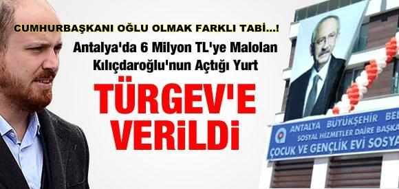 KILIÇDAROĞLU'NUN AÇTIĞI YURT TÜRGEV'E VERİLDİ..!