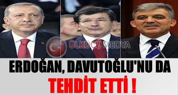 Erdoğan'dan Davutoğlu'na tehdit: Siyasi mevta olursun