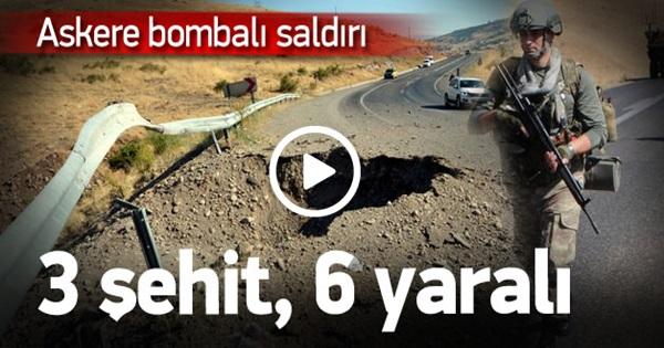 Bingöl'de askeri konvoya saldırı! 3 şehit