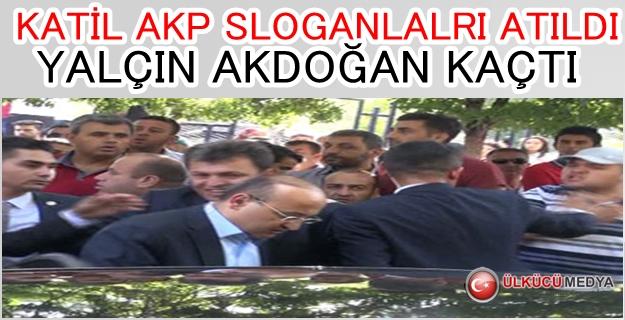 Şehit cenazesinde Yalçın Akdoğan'a protesto