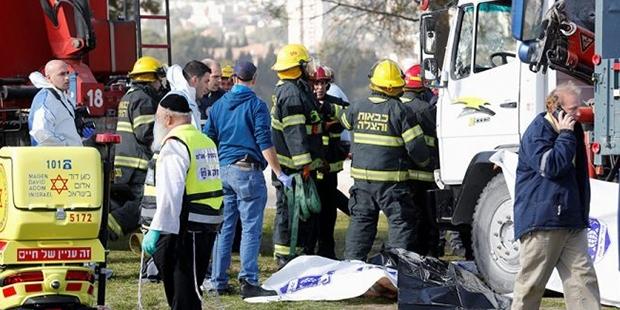 Kudüs'te Askerlere Kamyonlu Saldırı