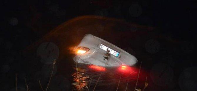 Seyhan Nehri'ne Uçan Otomobilden Sağ Çıktı