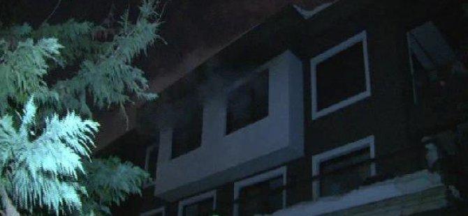 Üsküdar'da Villada Yangın