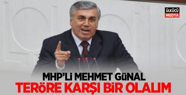MHP'li Mehmet Günal: Teröre karşı bir olalım