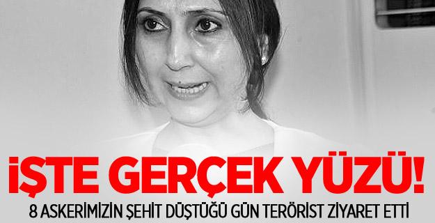 PKK Yandaşı HDP Eş Başkanı Teröristleri Ziyarete gitti