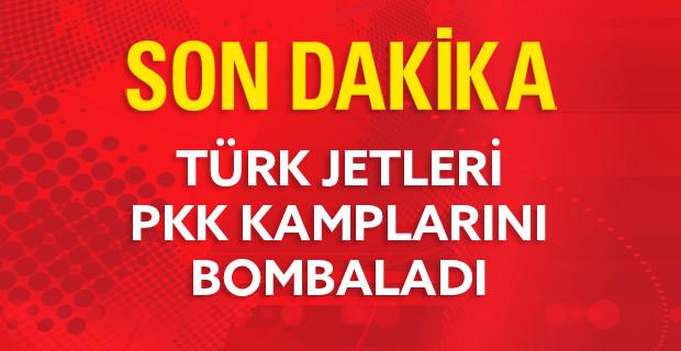 Türk Jetleri PKK Kamplarını Bir Kez Daha Bombaladı