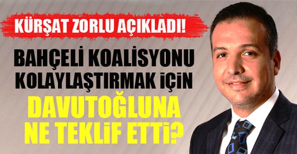 Kürşad Zorlu, AK Parti-MHP koalisyon görüşmeleriyle ilgili flaş bir iddia ortaya attı.