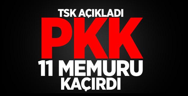 Van'da PKK Memurları Kaçırdı TSK Açıkladı