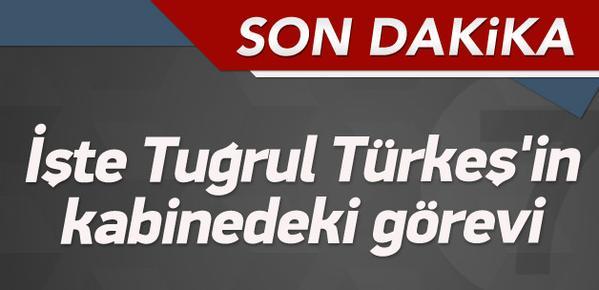 İşte Tuğrul Türkeş'in kabinedeki görevi