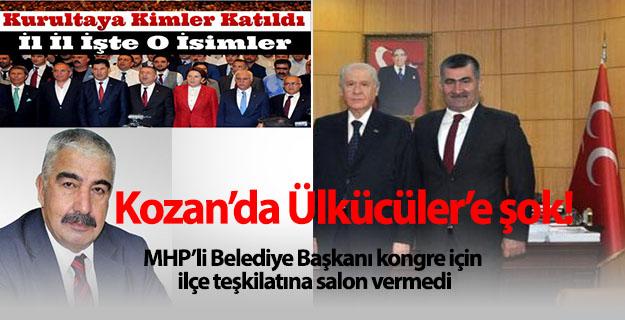 Kozan'da Ülkücülere şok!