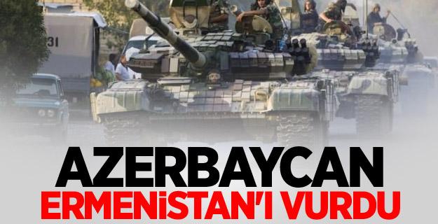 Azerbaycan, Ermenistan'ı vurdu