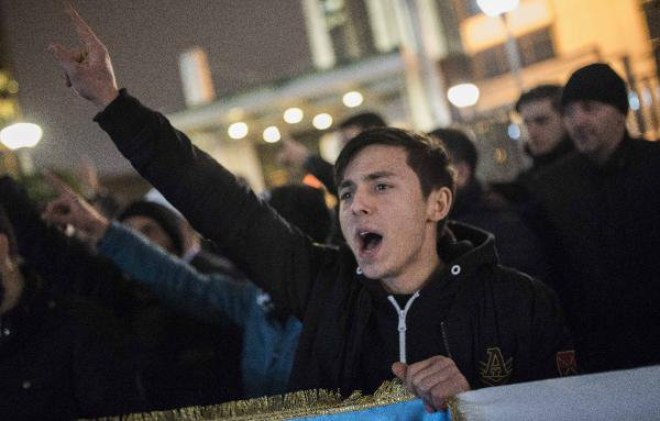 İsrail Konsolosluğu Önünde Ezan Protestosu