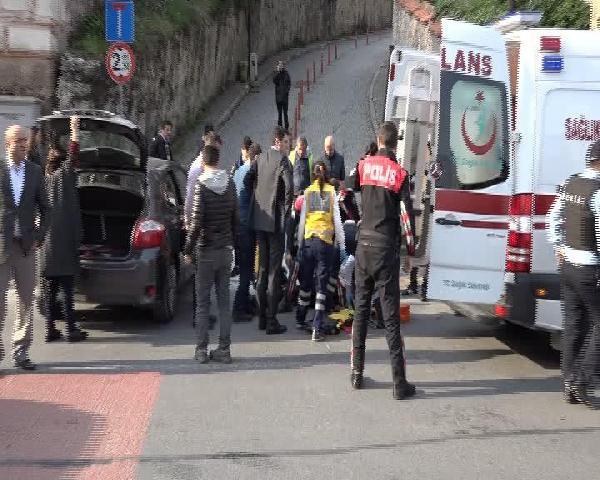 Beşiktaş'ta Kaza: 1 Polis Yaralandı