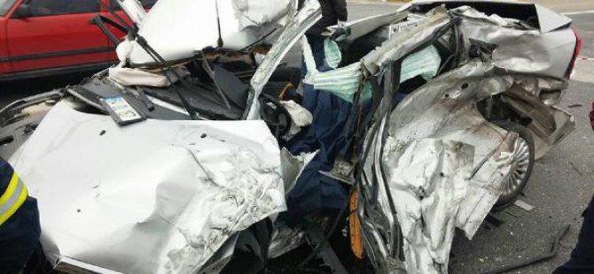 Uşak'ta, İşadamı Kazada Yaşamını Yitirdi