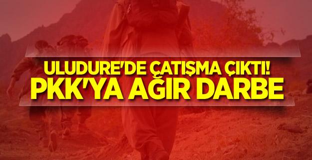 Uludure'de çatışma çıktı! PKK'ya ağır darbe
