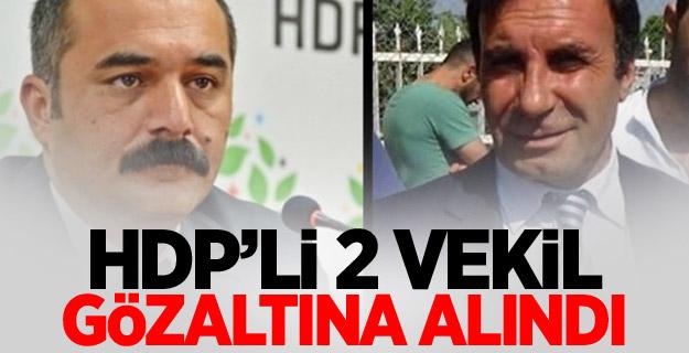 HDP'li 2 vekil gözaltına alındı