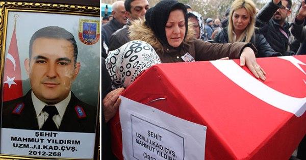 Şehit Uzman Çavuş Mahmut Yıldırım, Gözyaşlarıyla Uğurlandı