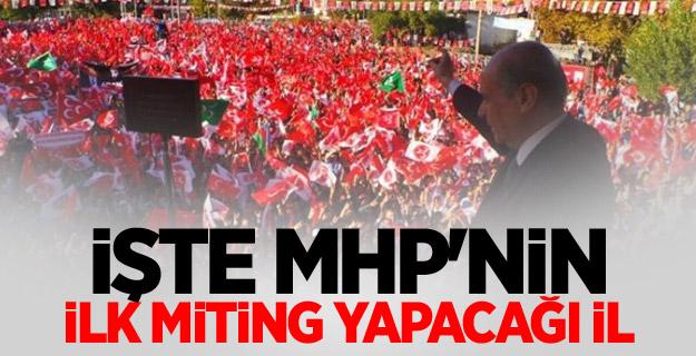 MHP'nin İlk mitingi Elazığ'da