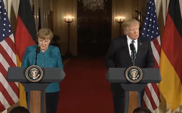 Merkel, Beyaz Saray'da Trump'la Görüştü