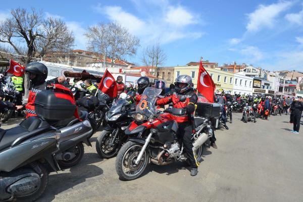 1000 Motosikletli Gelibolu'dan Geçti