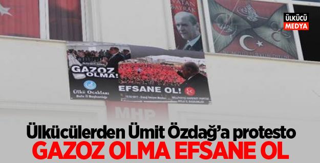 Ülkücülerden Ümit Özdağ'a protesto: Gazoz olma efsane ol