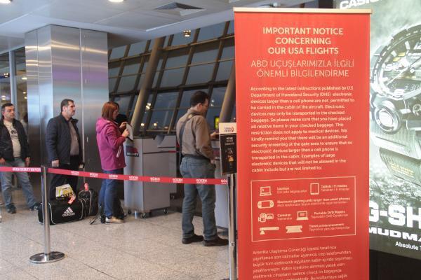 """THY """"Uçuşlarda Elektronik Cihaz Kısıtlaması""""nı Başlattı"""