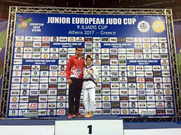 Gençler Judo Şampiyonası'nda Çiçek  İkinci Kez Avrupa Şampiyonu