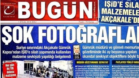 Baskın yapılan Bugün'ün manşeti: IŞİD