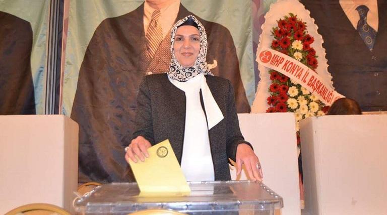 MHP Selçuklu İlçe başkanı Güzide Çipan güven tazeledi