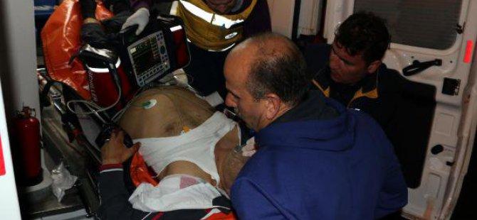 Kazayla Kendini Vurdu, Ağır Yaralandı
