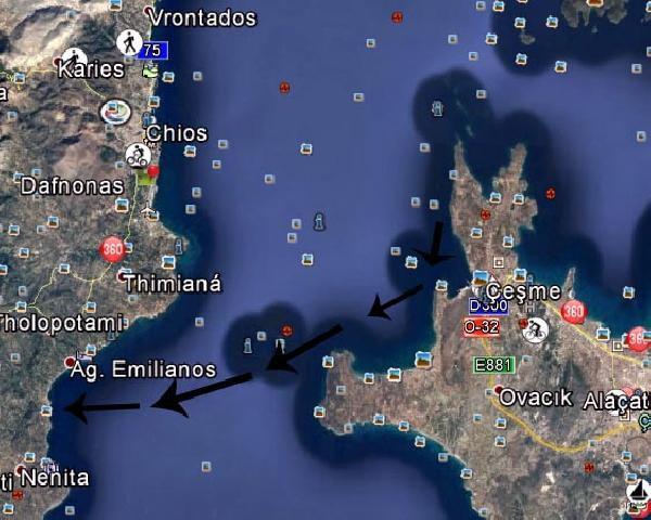 Cezayirli 2 Kaçak, Sakız'a Yüzerek Geçti