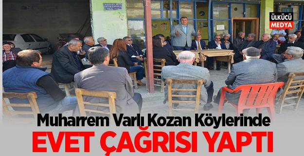 MHP'li Muharrem Varlı Kozan köylerinde 'Evet' çağrısı yaptı