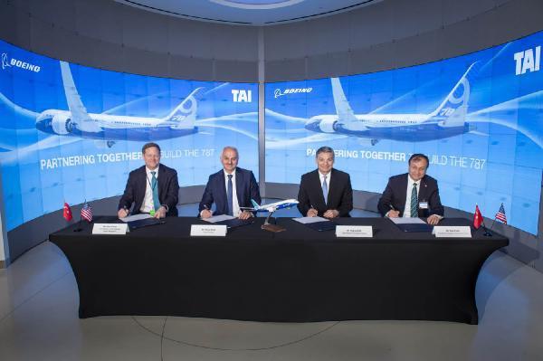 Boeing ve Taı Ortak Üretim Anlaşmasını Genişleterek Uzattı