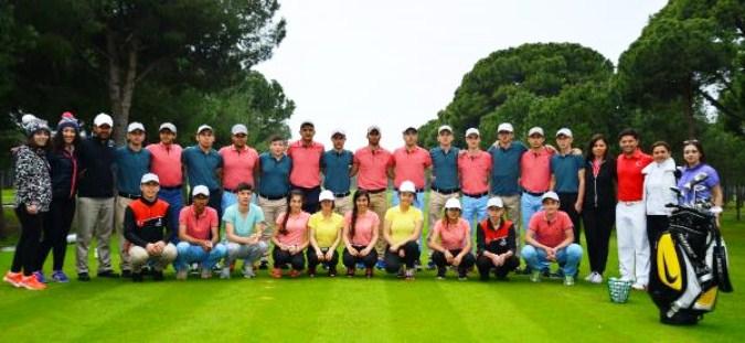 İşitme Engelli Golf Takımı Belek'te Kampa Girdi