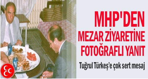 MHP'den Mezar Ziyaretine Fotoğraflı Yanıt