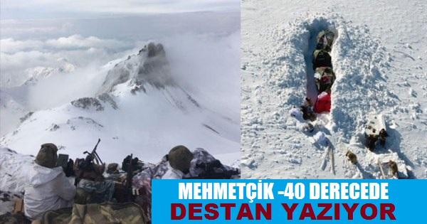 Mehmetçik 3500 Rakımda ve -40 Derecede Destan Yazıyor