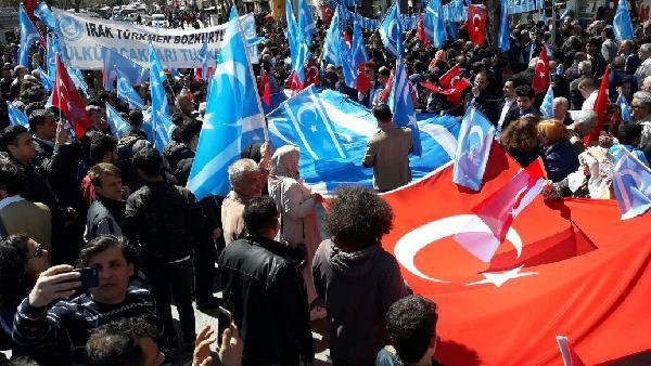 Ankara'da Kürdistan Bayrağı Protestosu