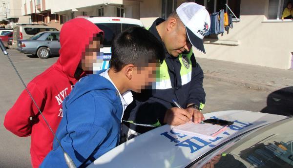14 Yaşındaki Sürücü, Polise Yakalandı
