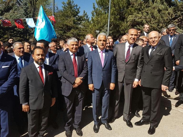 MHP Adana heyeti Başbuğ'un huzurunda